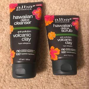 Alba botanica cleanser and scrub set